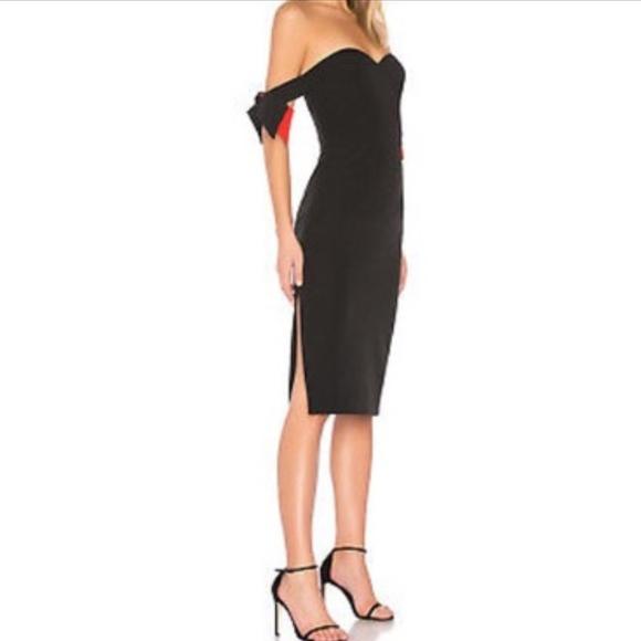 Milly Dresses & Skirts - Milly brit black off the shoulder sheath dress